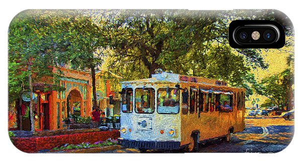 Downtown Trolley IPhone Case
