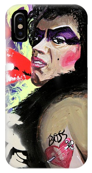 IPhone Case featuring the painting Dr. Frank N. Furter by eVol i
