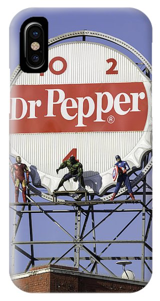 Dr Pepper And The Avengers IPhone Case