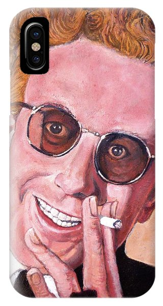 IPhone Case featuring the painting Dr Strangelove  by Tom Roderick