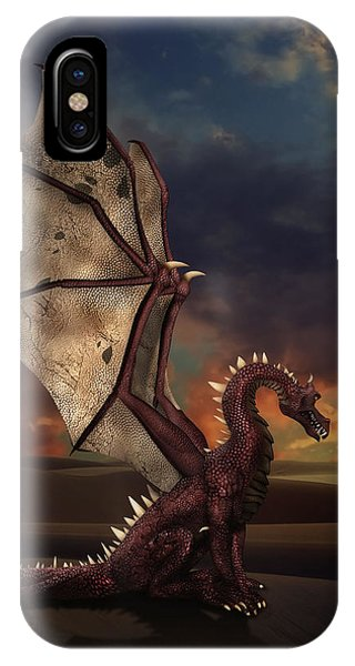 Dragon At Sunset IPhone Case