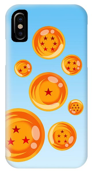 Saiyans iPhone Case - Dragon Balls by Benjamin Nunn