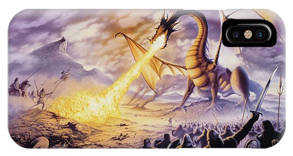 Dragon iPhone Case - Dragon Battle by The Dragon Chronicles - Steve Re