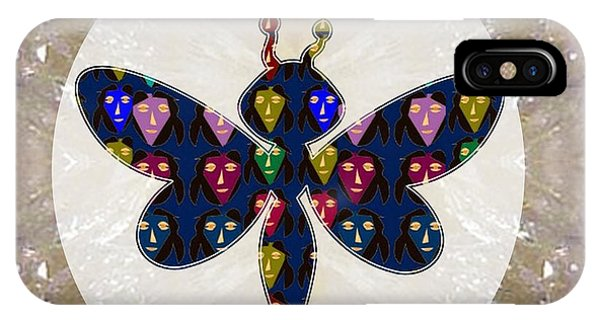 Rights Managed Images iPhone Case - Dragon Fly Cute Painted Face Cartons All Over Donwload Option Link Below Personl N Commercial Uses by Navin Joshi