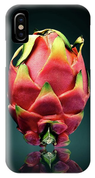 Red Fruit iPhone Case - Dragon Fruit Or Pitaya  by Johan Swanepoel