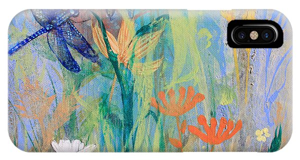 Dragonflies In Wild Garden IPhone Case
