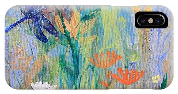 Dragonflies In Wild Garden IPhone Case