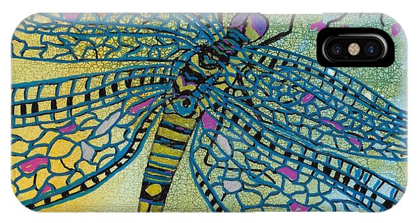 Dragonfly And Cherry Blossoms Phone Case by Susan Kubes
