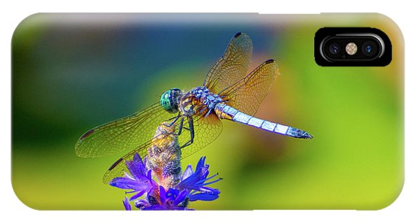 Dragonfly And Purple Flower IPhone Case