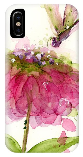 Dragonfly And Zinnia IPhone Case