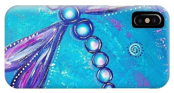 Dragonfly Bubble Art IPhone Case