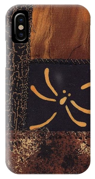IPhone Case featuring the tapestry - textile Dragonfly Dance by Linda Mae Olszanski