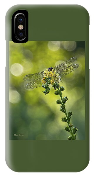 Dragonfly Flower IPhone Case