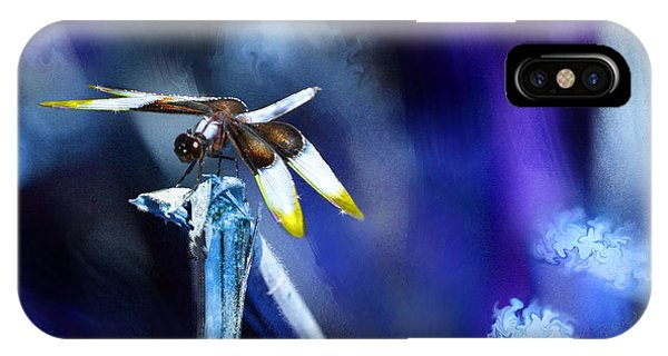 Dragonfly In The Blue IPhone Case