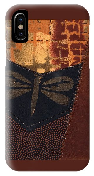 IPhone Case featuring the mixed media Dragonfly by Linda Mae Olszanski