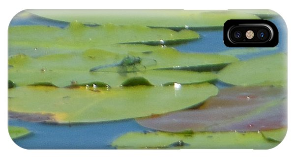 Dragonfly On Lily Pad IPhone Case