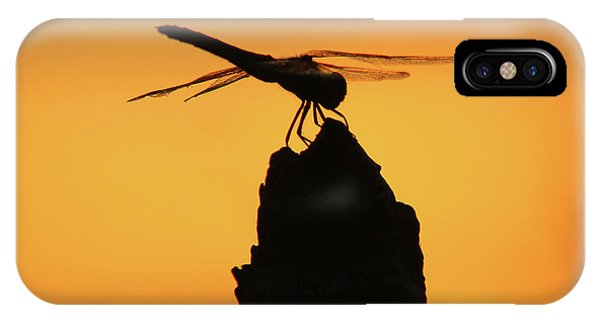 Dragonfly Sunset IPhone Case