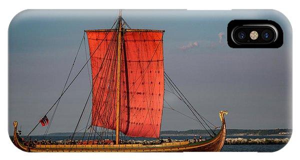Navigation iPhone Case - Draken Harald Harfagre by Dale Kincaid