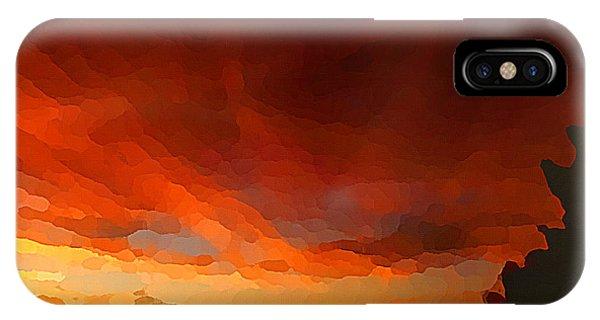 Drama At Sunrise IPhone Case