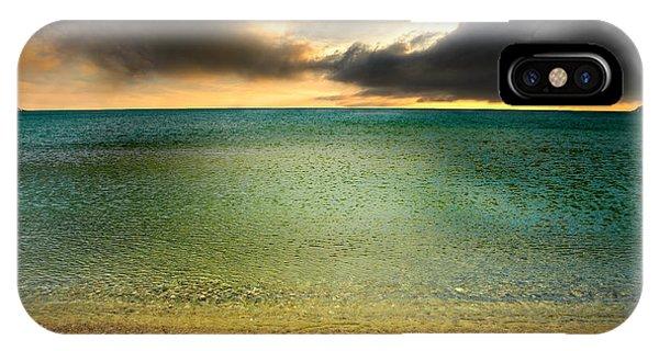 Drama At The Beach IPhone Case