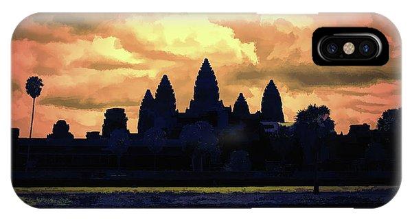 Dramatic Angkor Wat  IPhone Case