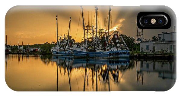 Dramatic Bayou Sunset IPhone Case