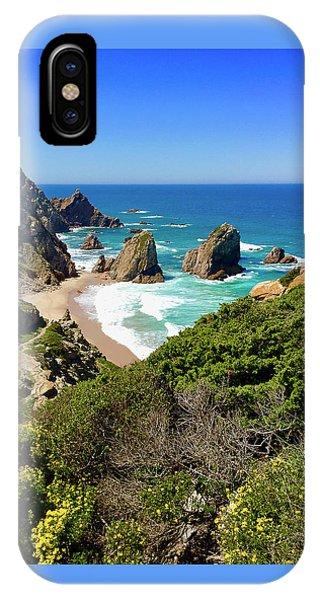 Dramatic Coastline And Beach - Portugal Phone Case by Connie Sue White