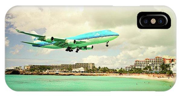 Dramatic Landing At St Maarten IPhone Case