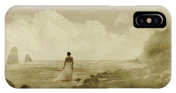 Dramatic Seascape And Woman IPhone Case