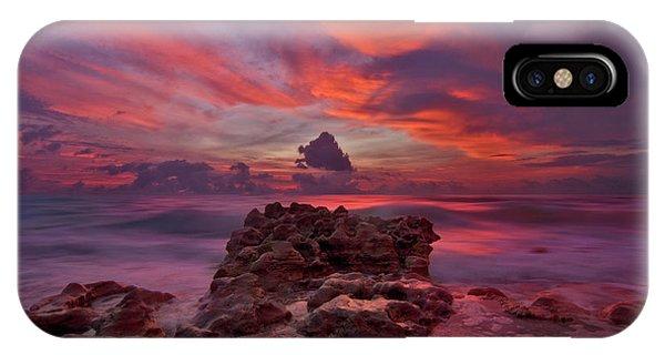Dramatic Sunrise Over Coral Cove Beach In Jupiter Florida IPhone Case