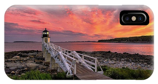 Dramatic Sunset At Marshall Point Lighthouse IPhone Case