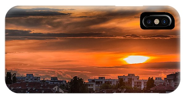 Dramatic Sunset Over Sofia IPhone Case