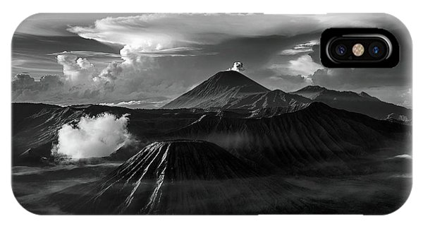 Dramatic View Of Mount Bromo IPhone Case
