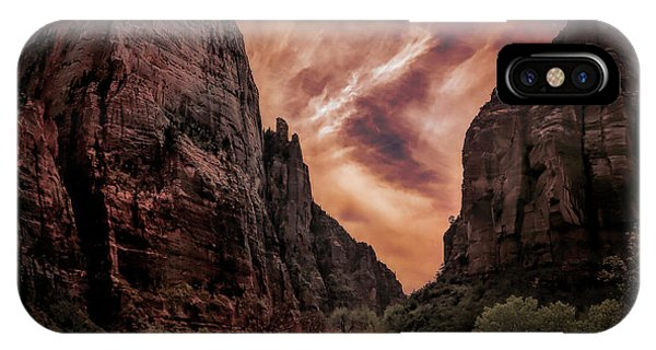 Dramatic Zion National Park Utah  IPhone Case