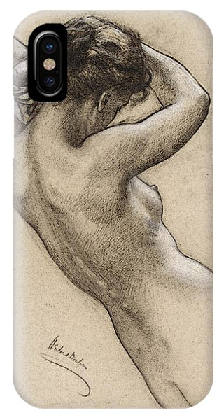 Draper Herbert James Study Of Florrie Bird For A Water Nymph In  Prospero Summoning Nymphs And Deities  IPhone Case