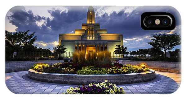 Draper Mormon Lds Temple - Utah IPhone Case