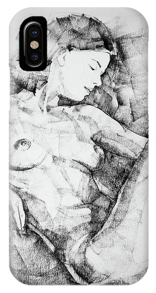 Drawing Beautiful Girl Figure IPhone Case