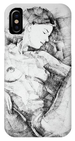 Drawing Beautiful Girl Figure IPhone Case