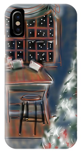 Drawing Board At Christmas IPhone Case