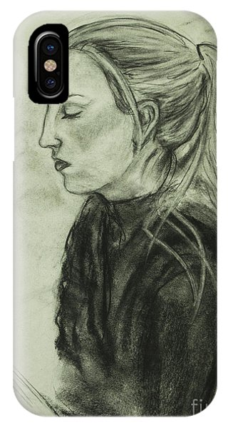 Drawing Of An Artist IPhone Case