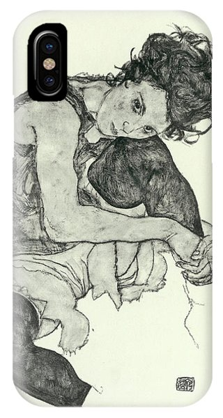 Lgbt iPhone Case - Drawings I by Egon Schiele