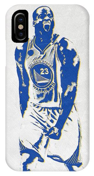 Tickets iPhone Case - Draymond Green Golden State Warriors Pixel Art by Joe Hamilton
