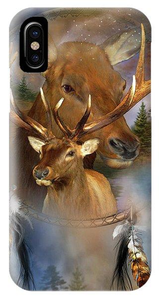 Dream Catcher - Spirit Of The Elk IPhone Case