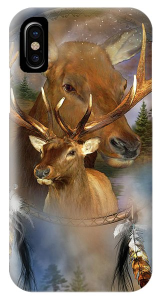 Dream Catcher - Spirit Of The Elk IPhone Case
