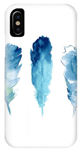 Lake iPhone X Case - Dream Catcher Feathers Painting by Joanna Szmerdt