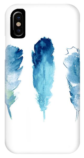 Lake iPhone Case - Dream Catcher Feathers Painting by Joanna Szmerdt
