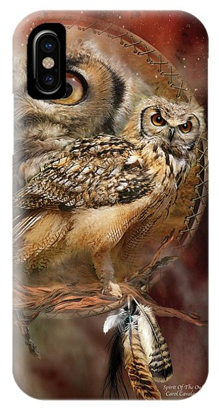 Print iPhone Case - Dream Catcher - Spirit Of The Owl by Carol Cavalaris