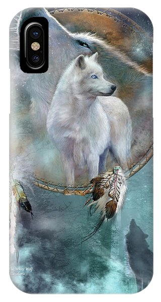 Dream Catcher - Spirit Of The White Wolf IPhone Case