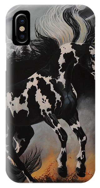 Dream Horse Series 12 - When Night Fall's IPhone Case