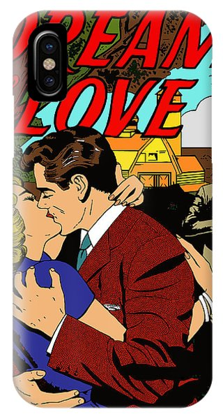 IPhone Case featuring the digital art Dream Of Love 2 Comic Book by Joy McKenzie
